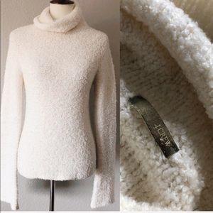 J. Crew • Cream color textured turtleneck sweater